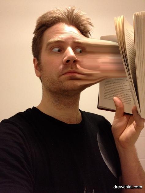 Face into Book