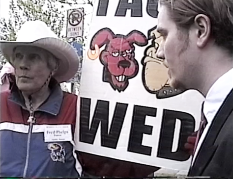 No, this wasn't Photoshopped. Back in 2001, I met Fred Phelps