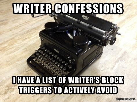 WRITER'S BLOCK TRIGGERS